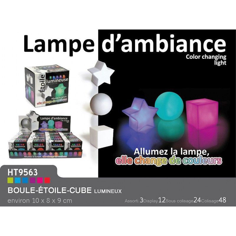 lampe d 39 ambiance vente de lots gadgets divers pour. Black Bedroom Furniture Sets. Home Design Ideas