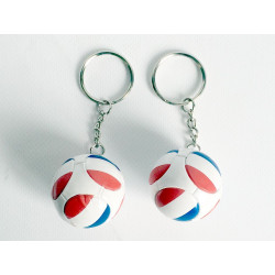 PORTE-CLE BALLON FOOT FRANCE DIAM 3 CM