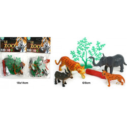 SET ANIMAUX DU ZOO 6 A 8 CM