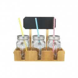 ENSEMBLE DE 3 DRINKING JARS...