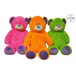 PELUCHE OURS COULEUR FLASH...