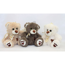 OURS PELUCHE ASSIS 20 CM