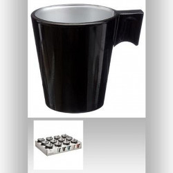 TASSE A CAFE IRISEE NOIR 8 CL