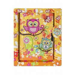 CARNET SECRET DECOR CHOUETTE