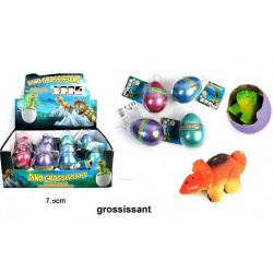OEUF GROSSISSANT DINOSAURE 7.5 CM
