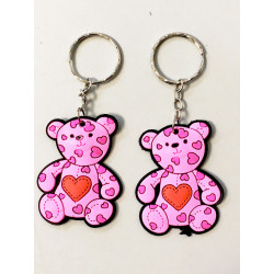PORTE-CLE OURS COEUR 6 CM