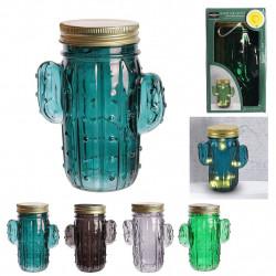 MASON JAR CACTUS LED