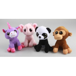 PELUCHE ANIMAUX 15 CM ASSIS...