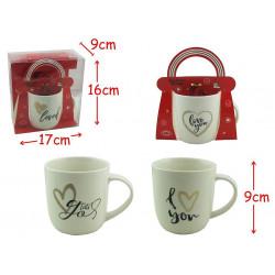 COFFRET MUG LOVE BLANC