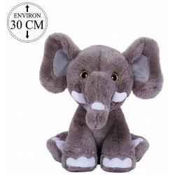 PELUCHE ELEPHANT ASSIS 30 CM
