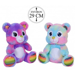 PELUCHE OURS RAINBOW 29 CM