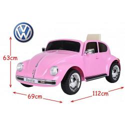 VW BEETLE PORTEUR ROSE...