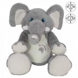 PELUCHE ELEPHANT 67 CM DEBOUT