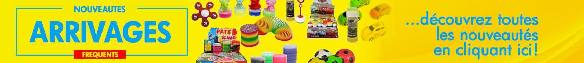 Arrivage permanent de nouveaux produits pour les kermesses et fêtes