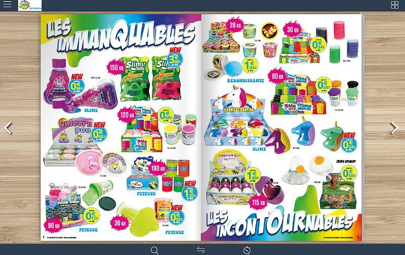 Catalogue jouets pour kermesse feuilletable en ligne